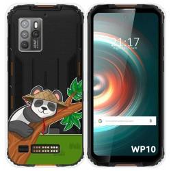 Funda Silicona Transparente para Oukitel WP10 diseño Panda Dibujos