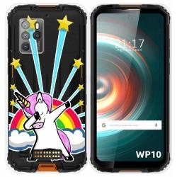 Funda Silicona Transparente para Oukitel WP10 diseño Unicornio Dibujos