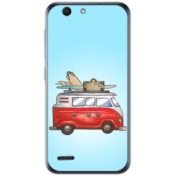 Funda Gel Tpu para Vodafone Smart E8 Diseño Furgoneta Dibujos
