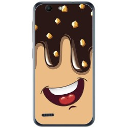 Funda Gel Tpu para Vodafone Smart E8 Diseño Helado Chocolate Dibujos