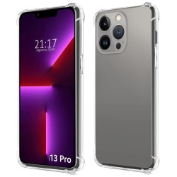 Funda Gel Tpu Anti-Shock Transparente compatible con Iphone 13 Pro (6.1)