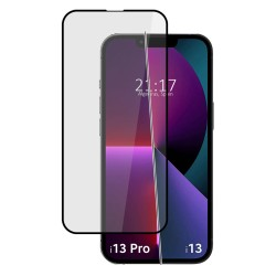 Protector Cristal Templado Completo 5D Full Glue Negro compatible con Iphone 13 / 13 Pro (6.1) Vidrio