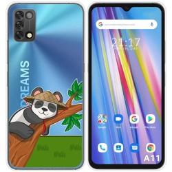 Funda Silicona Transparente para Umidigi A11 diseño Panda Dibujos
