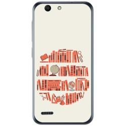 Funda Gel Tpu para Vodafone Smart E8 Diseño Mundo Libro Dibujos
