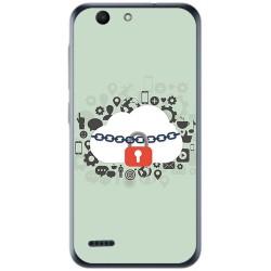 Funda Gel Tpu para Vodafone Smart E8 Diseño Nube Dibujos