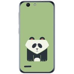 Funda Gel Tpu para Vodafone Smart E8 Diseño Panda Dibujos