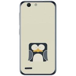 Funda Gel Tpu para Vodafone Smart E8 Diseño Pingüino Dibujos