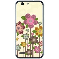 Funda Gel Tpu para Vodafone Smart E8 Diseño Primavera En Flor Dibujos