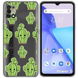 Funda Silicona Transparente para Umidigi Power 5 diseño Cactus Dibujos
