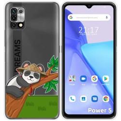 Funda Silicona Transparente para Umidigi Power 5 diseño Panda Dibujos