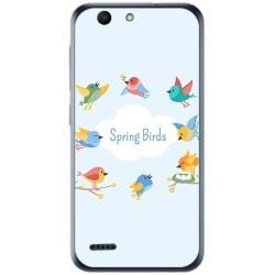 Funda Gel Tpu para Vodafone Smart E8 Diseño Spring Birds Dibujos