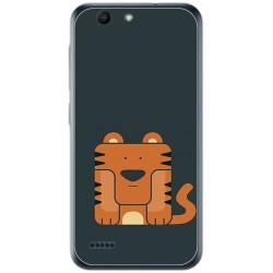 Funda Gel Tpu para Vodafone Smart E8 Diseño Tigre Dibujos