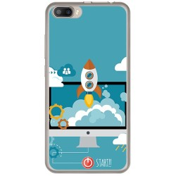 Funda Gel Tpu para Doogee Shoot 2 Diseño Cohete Dibujos