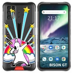 Funda Silicona Transparente para Umidigi Bison GT diseño Unicornio Dibujos