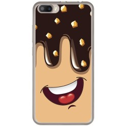 Funda Gel Tpu para Doogee Shoot 2 Diseño Helado Chocolate Dibujos