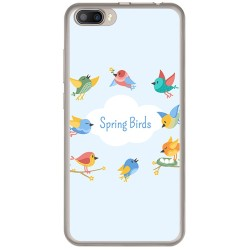 Funda Gel Tpu para Doogee Shoot 2 Diseño Spring Birds Dibujos