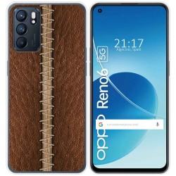 Funda Silicona para Oppo Reno 6 5G diseño Cuero 01 Dibujos