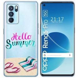 Funda Silicona Transparente para Reno 6 Pro 5G diseño Summer Dibujos