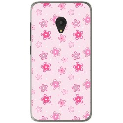 Funda Gel Tpu para Alcatel U5 (4G) / Orange Rise 52 Diseño Flores Dibujos