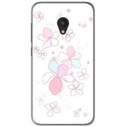 Funda Gel Tpu para Alcatel U5 (4G) / Orange Rise 52 Diseño Flores Minimal Dibujos