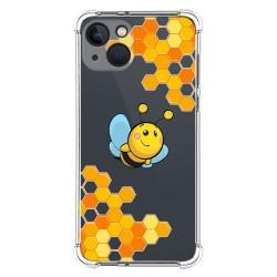 Funda Silicona Antigolpes compatible con Iphone 13 (6.1) diseño Abeja Dibujos