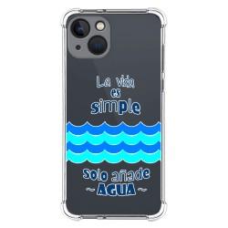 Funda Silicona Antigolpes compatible con Iphone 13 (6.1) diseño Agua Dibujos