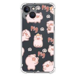 Funda Silicona Antigolpes compatible con Iphone 13 (6.1) diseño Cerdos Dibujos