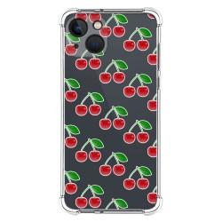 Funda Silicona Antigolpes compatible con Iphone 13 (6.1) diseño Cerezas Dibujos