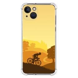 Funda Silicona Antigolpes compatible con Iphone 13 (6.1) diseño Ciclista Dibujos