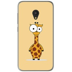 Funda Gel Tpu para Alcatel U5 (4G) / Orange Rise 52 Diseño Jirafa Dibujos
