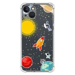 Funda Silicona Antigolpes compatible con Iphone 13 (6.1) diseño Espacio Dibujos