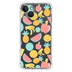 Funda Silicona Antigolpes compatible con Iphone 13 (6.1) diseño Frutas 02 Dibujos
