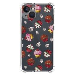 Funda Silicona Antigolpes compatible con Iphone 13 (6.1) diseño Muffins Dibujos
