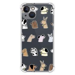 Funda Silicona Antigolpes compatible con Iphone 13 (6.1) diseño Perros Dibujos