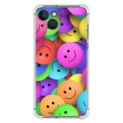 Funda Silicona Antigolpes compatible con Iphone 13 (6.1) diseño Smile Dibujos