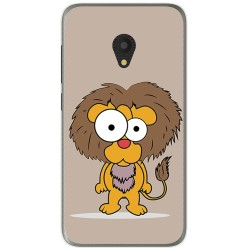 Funda Gel Tpu para Alcatel U5 (4G) / Orange Rise 52 Diseño Leon Dibujos