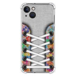Funda Silicona Antigolpes compatible con Iphone 13 (6.1) diseño Zapatillas 04 Dibujos
