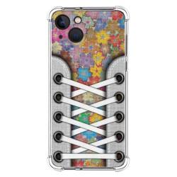 Funda Silicona Antigolpes compatible con Iphone 13 (6.1) diseño Zapatillas 05 Dibujos