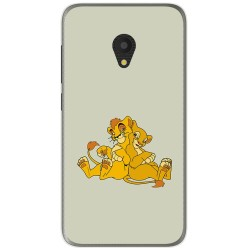 Funda Gel Tpu para Alcatel U5 (4G) / Orange Rise 52 Diseño Leones Dibujos