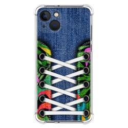 Funda Silicona Antigolpes compatible con Iphone 13 (6.1) diseño Zapatillas 13 Dibujos