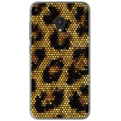 Funda Gel Tpu para Alcatel U5 (4G) / Orange Rise 52 Diseño Leopardo Dibujos