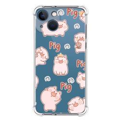 Funda Silicona Antigolpes compatible con Iphone 13 Mini (5.4) diseño Cerdos Dibujos
