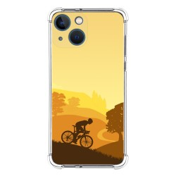 Funda Silicona Antigolpes compatible con Iphone 13 Mini (5.4) diseño Ciclista Dibujos