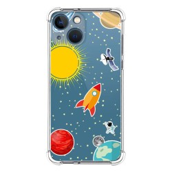 Funda Silicona Antigolpes compatible con Iphone 13 Mini (5.4) diseño Espacio Dibujos