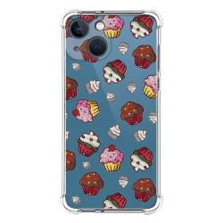 Funda Silicona Antigolpes compatible con Iphone 13 Mini (5.4) diseño Muffins Dibujos