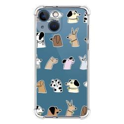 Funda Silicona Antigolpes compatible con Iphone 13 Mini (5.4) diseño Perros Dibujos