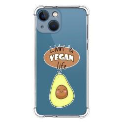 Funda Silicona Antigolpes compatible con Iphone 13 Mini (5.4) diseño Vegan Life Dibujos
