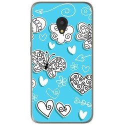 Funda Gel Tpu para Alcatel U5 (4G) / Orange Rise 52 Diseño Mariposas Dibujos