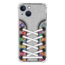 Funda Silicona Antigolpes compatible con Iphone 13 Mini (5.4) diseño Zapatillas 04 Dibujos