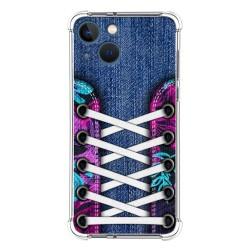 Funda Silicona Antigolpes compatible con Iphone 13 Mini (5.4) diseño Zapatillas 06 Dibujos
